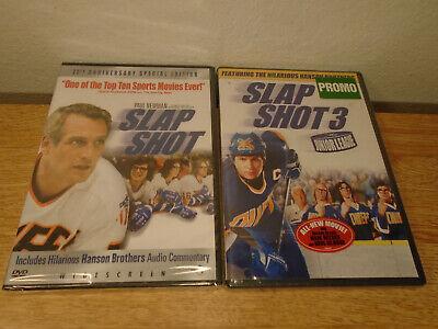 Slapshot 1 25th Special & 3 Junior League DVDs Hockey New Sealed Hanson Brothers comprar usado  Enviando para Brazil