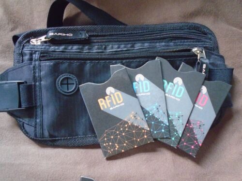Money Belt with RFID credit card protectors