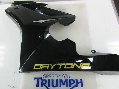 TRIUMPH DAYTONA 675 LEFT HAND FAIRING PANEL PHANTOM BLACK 2010 - 2012