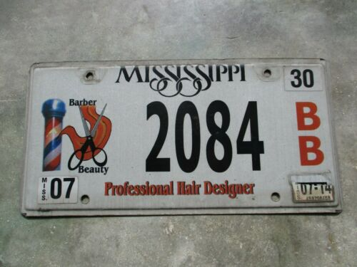 Mississippi 2014 Barber / Beauty license plate  #   2084