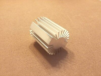 2 Inch Diameter Heat Sink Aluminum. Round. 2.0 X 2.5. Low Thermal Resistance.