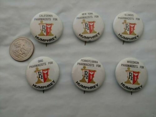 "Vintage 1968 /""Humphrey for President/"" Hubert Humphrey Campaign Bumper Sticker"