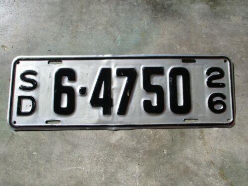South Dakota 1926 license plate  #  6 - 4750