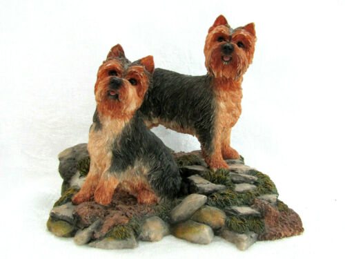 Sheratt & Simpson Yorkie Yorkshire Terriers #89035 Resin Figurine 2003