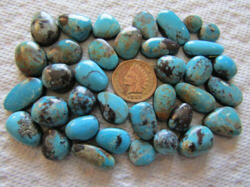 36 Chinese Hubei Redskin Turquoise Cabs 200 carat Cabochons Wholesale Lot