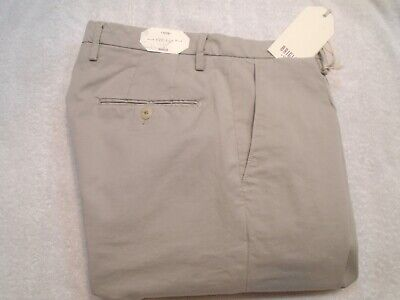 Briglia 1949 Slim Fit Stretch Cotton Chino Pants NWT 32 x 34 $255 Made in Italy