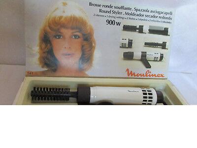 Vintage LOCKENSTAB mit 4 Aufsätzen Moulinex in Original Verpackung 70er