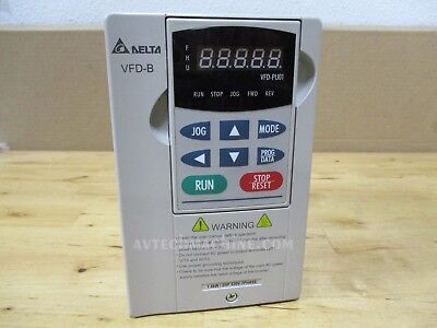 Delta Inverter Vfd015b23a Ac Variable Frequency Drive Vfd 1.5kw 2hp 240v 3 Phase