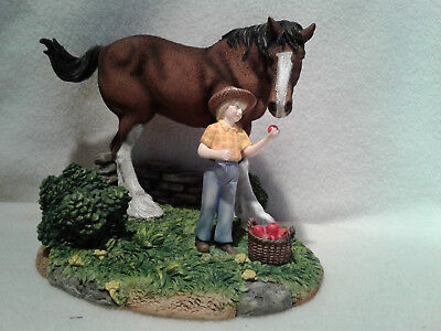 "Anheuser Busch CLYD5 Clydesdale ""An Apple for King"" Figurine"