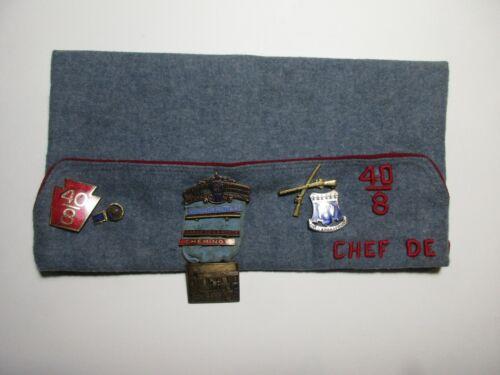 Vintage LA SOCIETE DES 40 HOMMES ET 8 CHEVAUX + More Medals American Legion Hat