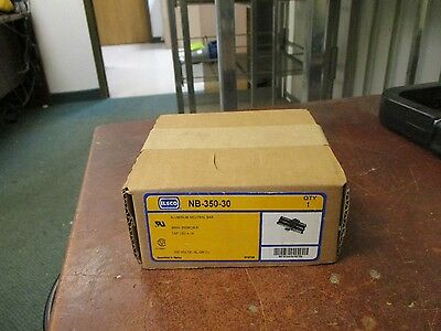 Ilsco Aluminum Neutral Bar Nb-350-30 Line 350mcm-6 Load 30 4-14 600v
