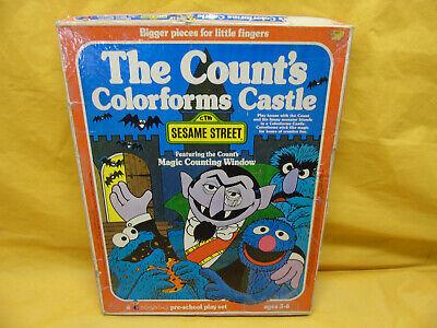 Vintage 1977 Sesame Street Colorform Castle with Instructions