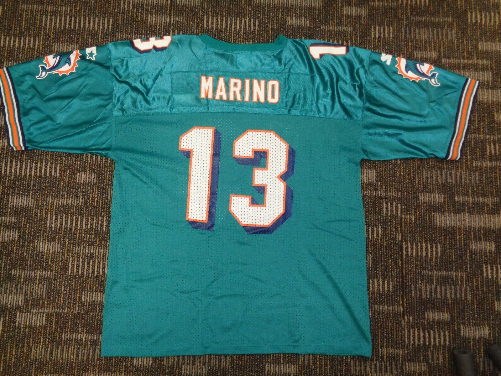DAN MARINO 13 MIAMI DOLPHINS FISH STARTER MENS GREEN NFL GAME FOOTBALL JERSEY  - $49.99