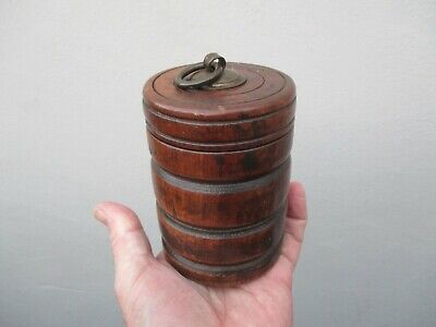 A Victorian Turned Wooden Jar & Lid c1840/50