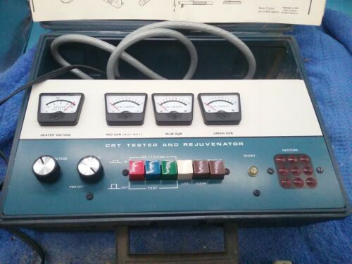 Heathkit CRT Tester And Rejuvenator Model IT-5230 With Booklet And Adapters