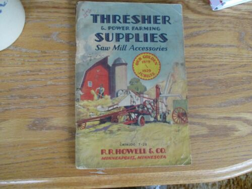 VERY RARE-Thresher&PowerFarming SuppliesSawMillAccessories CatalogT-29R.R.Howell