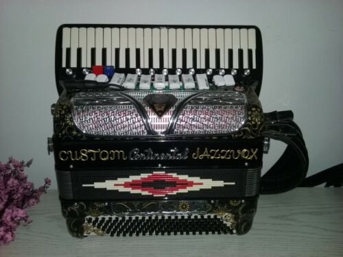 Rare!  Worlds smallest 14 inch 120 bass Custom made Continental Gold Accordion