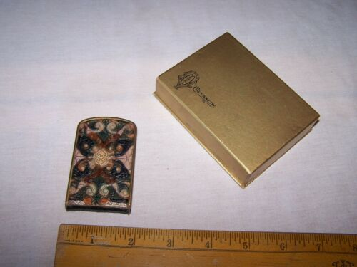 Antique MONDAINE Art Deco Genuine Leather Vanity Compact CIG-VANETTE w Box