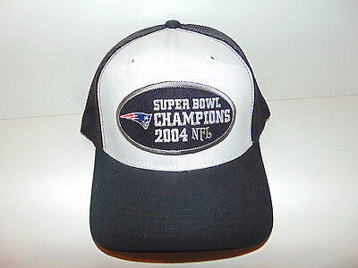 Pats Patriots Super Bowl 38 Championship Hat Cap Tom Brady 2003 / 2004 Trucker - Pats Hat