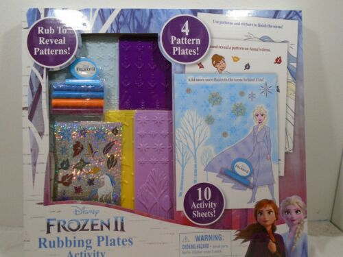 Disney Frozen II Rubbing Plates Activity Set 10 Activity Sheets