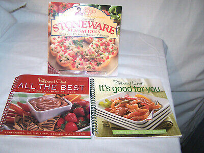 3 Pampered Chef Cookbooks Good for You All the Best Stoneware Sensations (Best Cookbooks For Chefs)