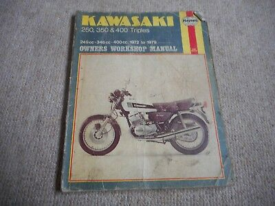 HAYNES MANUAL KAWASAKI 250,350 &400 TRIPLES