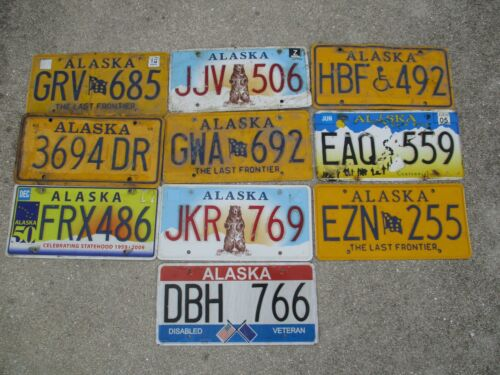 10 Alaska license plate lot for collecting or craft # 2