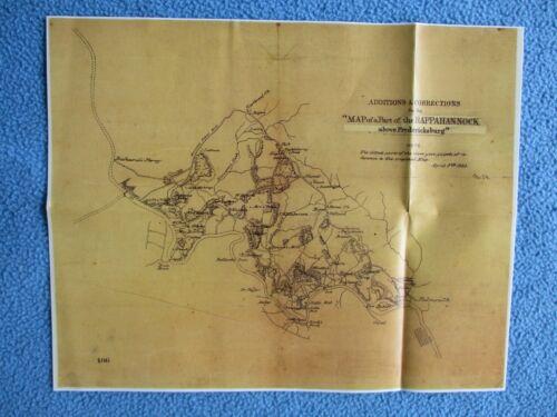 # Civil War Map - Rappahannock Above Fredericksburg, 1863 - SEE MY OTHER MAPS +