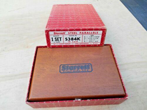 NEW Open Box Starrett S384K Steel Parallel Set w/Box and Case , 4 PRS.  USA