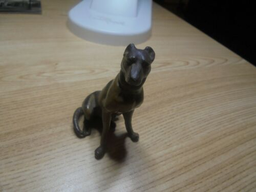 Antique Metal Doberman Dogo Argentino Mastiff Dog Figurine Standing