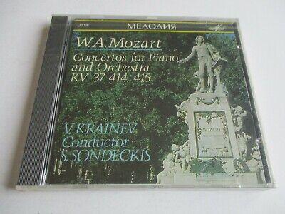 WA MOZART Concertos For Piano & Orchestra KV 37,414,415 S.Sondeckis- MelodiyaNEW
