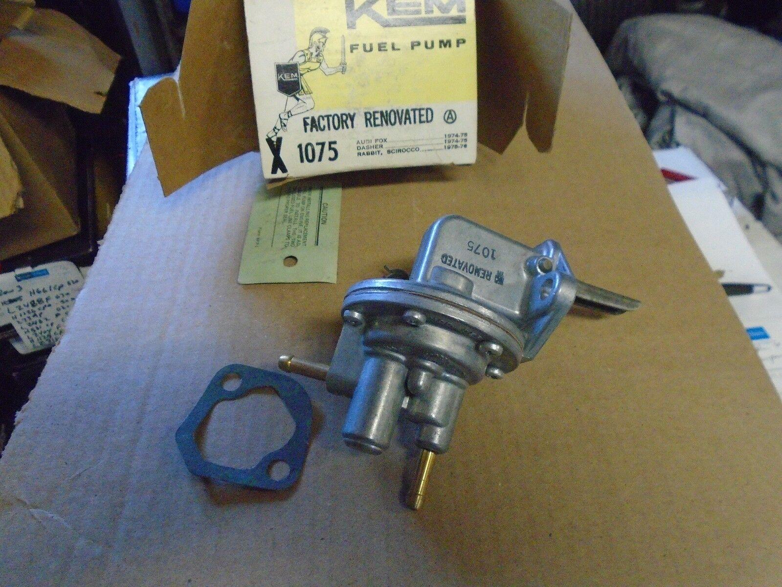 Used Volkswagen Fuel Pumps For Sale Tiguan Filter 1974 1976 Audi Fox Kem Factory Rebuilt Mechanical Pump 1075