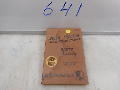 Caterpillar Dw20 Direct Electric Starting Parts Catalog 87e1-up Form 33110