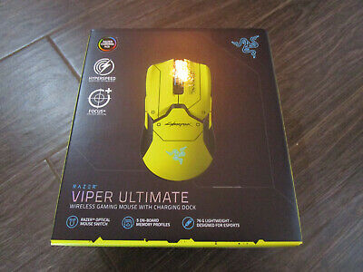 NEW Razer Viper Ultimate Wireless Gaming Mouse With Dock Cyberpunk 2077 IN HAND