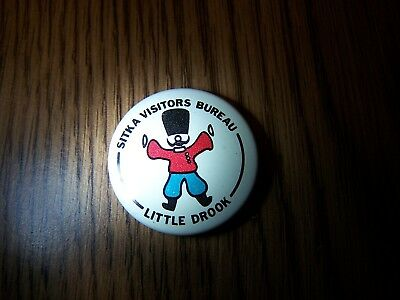 "Little Drook, Alaska pinback button, 1"" lithograph. 1970. Excellent condition."