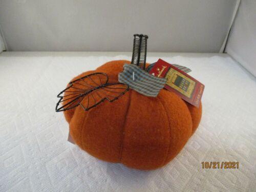 Hallmark Pretty Plush Pumpkin  Halloween Thanksgiving Decoration