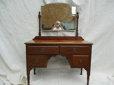 Antique Victorian Dresser / Chest of Drawers with Mirror - Original Condition