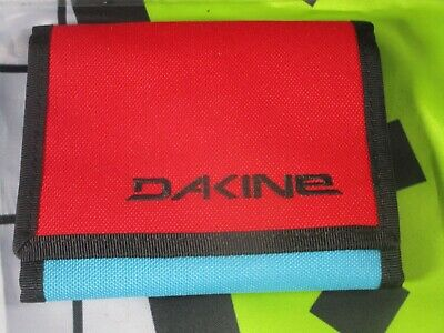 dakine diplomat blue red  90s identity card wallet purse ripper coins unisex