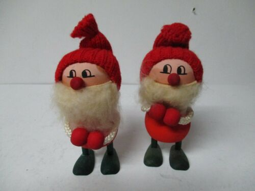 Pair Of Nice Christmas Elf Figures - Made in Sweden