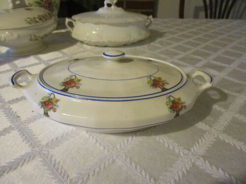 Vintage Floral China Tureen Edwin M Knowles