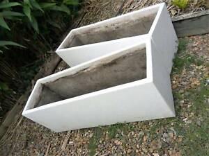 Planter Box Trough ~ Stone finish concrete ~ Price for 1 pot   Pots
