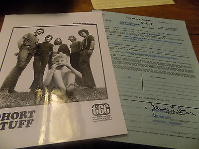 SHORT STUFF JAMES LIBAN SIGNED CHICAGO BLUES CLUB CONTRACT ALICE'S REVISITED 71
