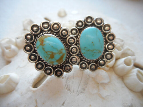 Southwest Mexico Sterling Oval Turquoise Earrings  268803