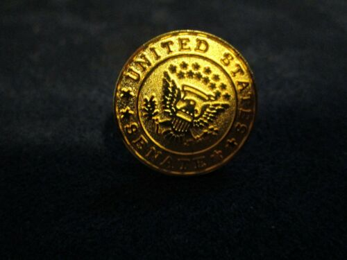 United States Senate Gold Tone Metal Lapel Pin