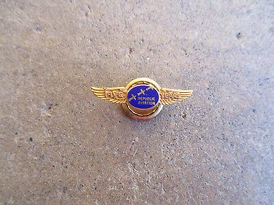 Vintage 5Yr Republic Aviation Aircraft 10K Gold Employee Service Lapel Pin