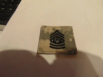 MILITARY PATCH US ARMY ACU HOOK AND LOOP BACK COMMAND SERGEANT MAJOR RANK ACU'S