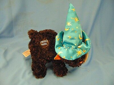 Black cat witches hat Halloween decoration scary sounds plush stuffed animal - Halloween Black Cat Stuffed Animal