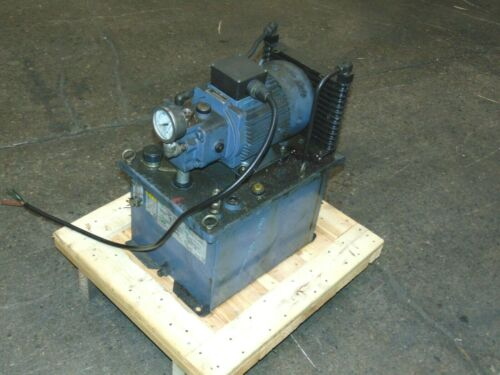 Nachi Fujikoshi Variable Vane Hydraulic Pump Power Unit. 1,014 PSI 230 / 460 V