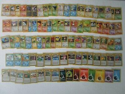 COMPLETE NONHOLO Neo Genesis 1st Edition NM/MINT Pack Fresh Pokemon Cards 20-111