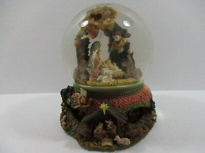 (Nativity Scene Musical Christmas Snow Globe Rotating, O Little Town Of Bethlehem)